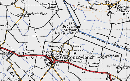 Old map of Liney in 1946