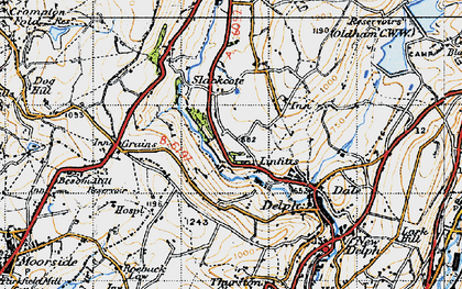 Old map of Linfitts in 1947