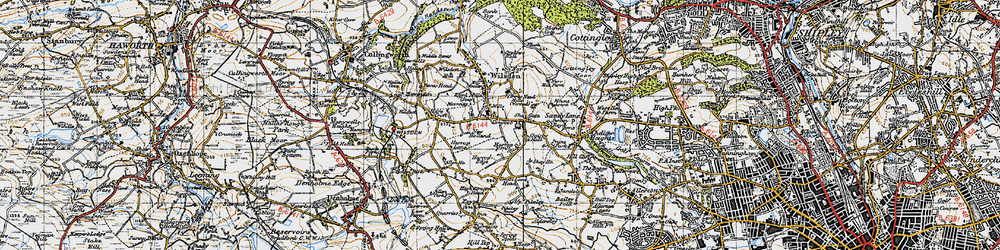 Old map of Lingbob in 1947