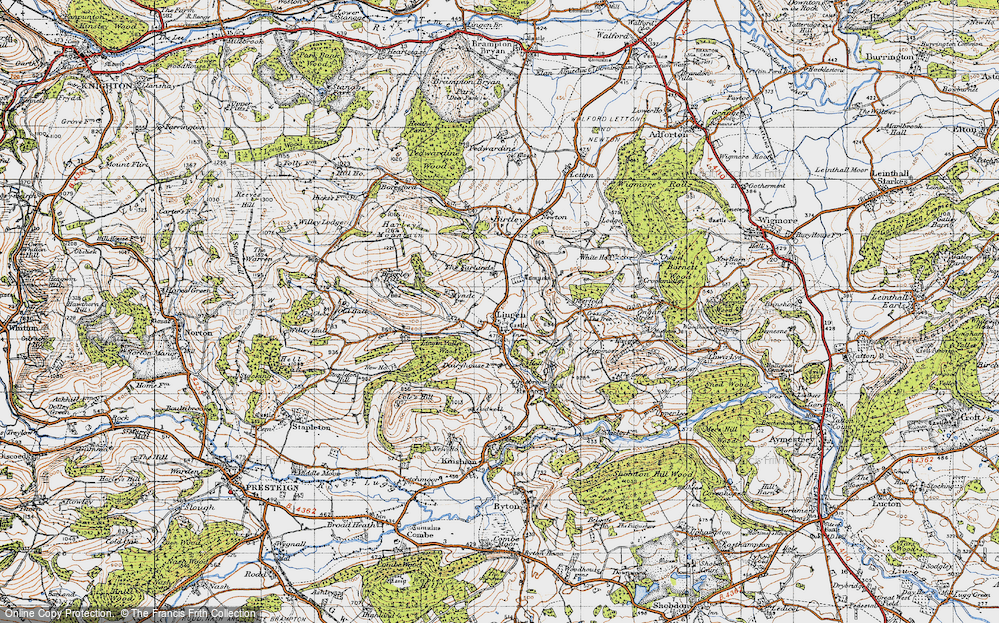 Old Map of Lingen, 1947 in 1947