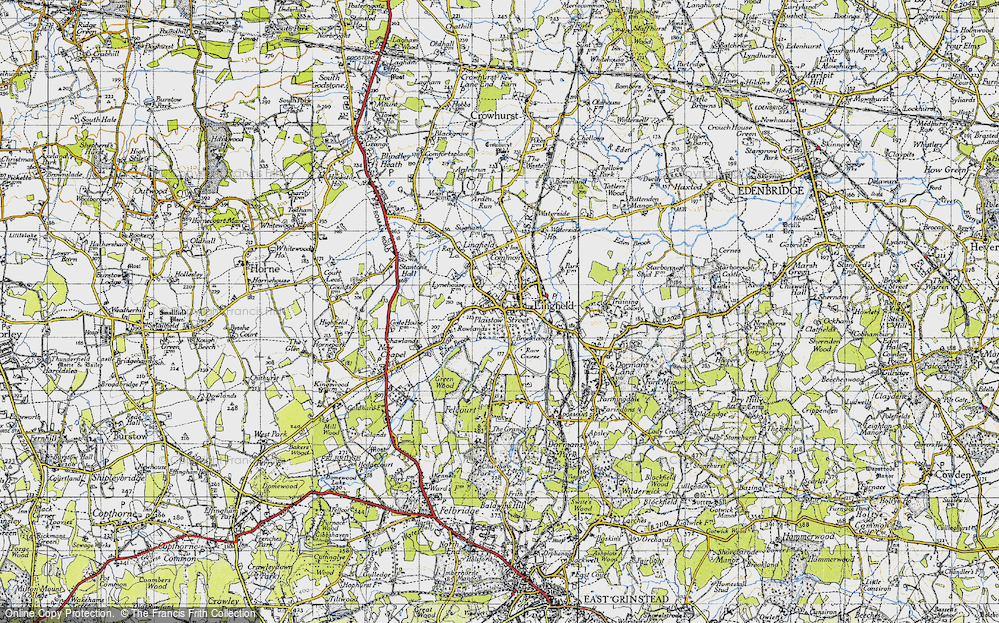 Old Map of Lingfield, 1946 in 1946