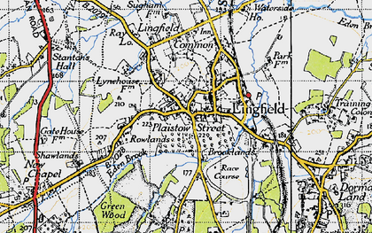 Old map of Lingfield in 1946