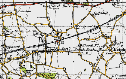 Old map of Lingwood in 1945