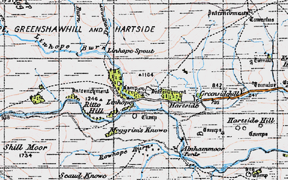 Old map of Alnhammoor in 1947