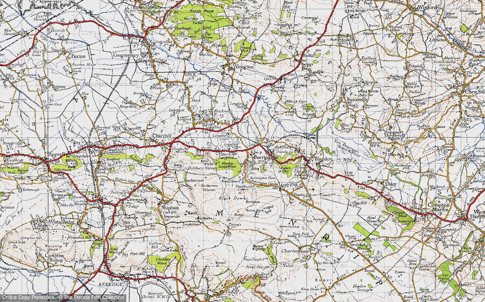 Old Map of Link, 1946 in 1946