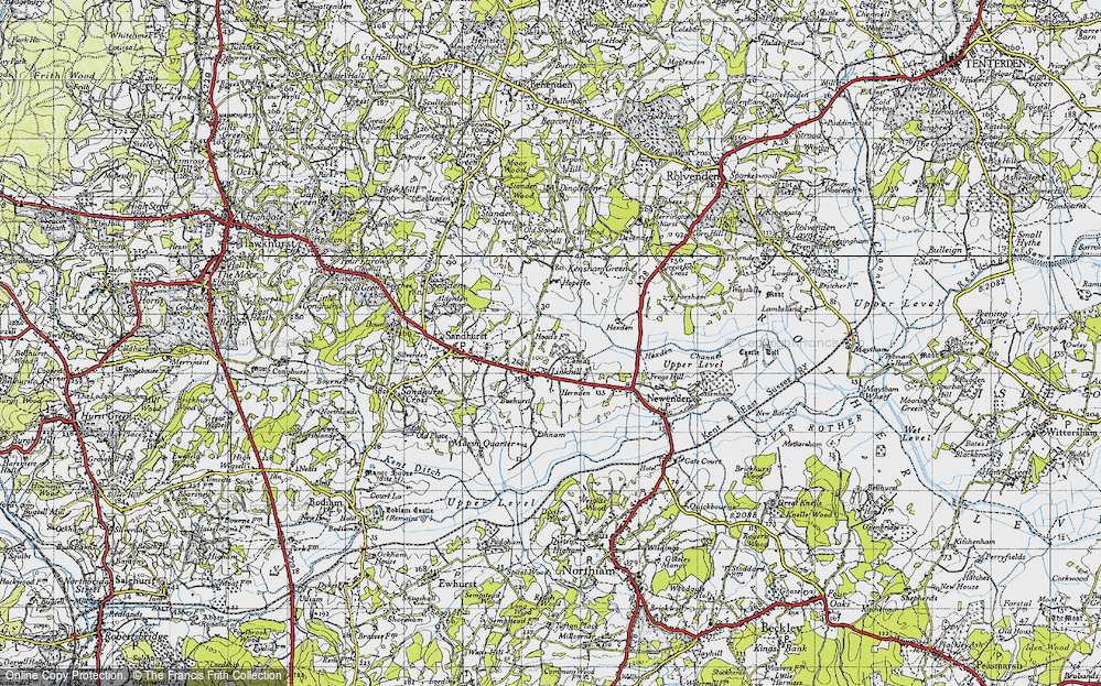 Old Map of Linkhill, 1940 in 1940
