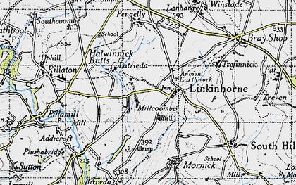 Old map of Linkinhorne in 1946