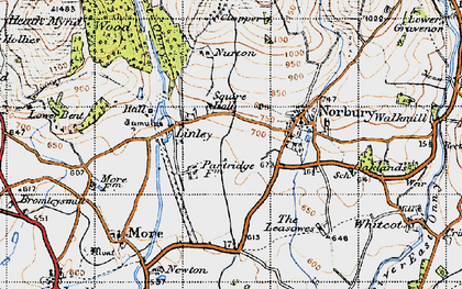 Old map of Linley in 1947