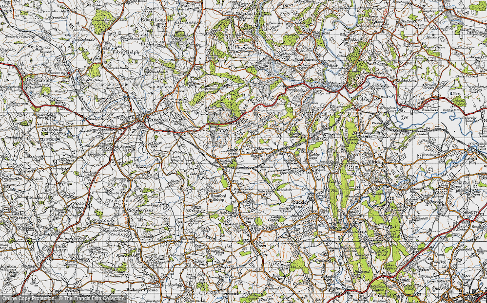 Old Map of Linley Green, 1947 in 1947