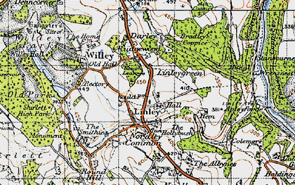 Old map of Linleygreen in 1947