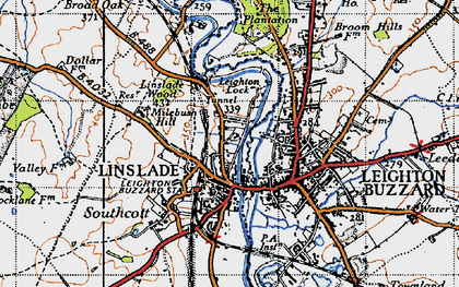 Old map of Linslade in 1946