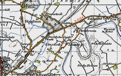 Old map of Linstock in 1947