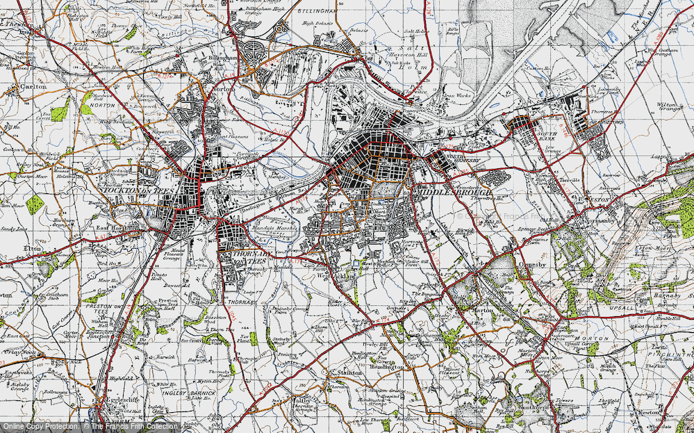 Old Map of Linthorpe, 1947 in 1947