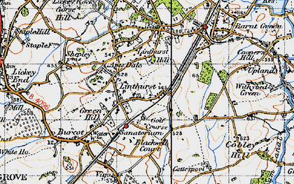 Old map of Linthurst in 1947