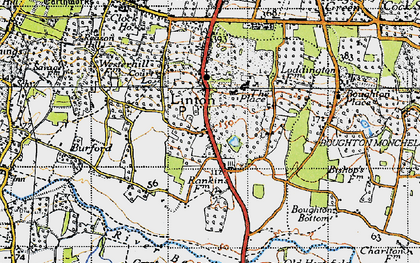 Old map of Linton Park in 1940