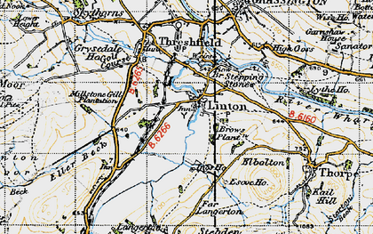 Old map of Linton in 1947