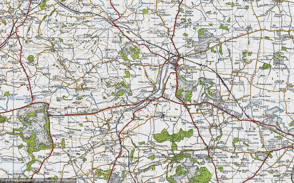 Old Map of Linton, 1947 in 1947