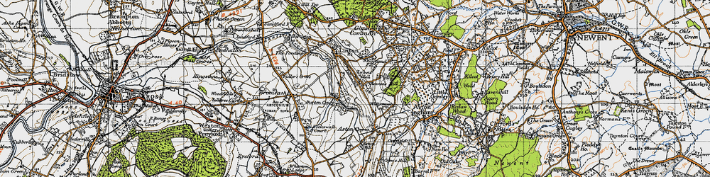 Old map of Linton Hill in 1947
