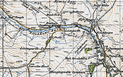 Old map of Bank Foot in 1947