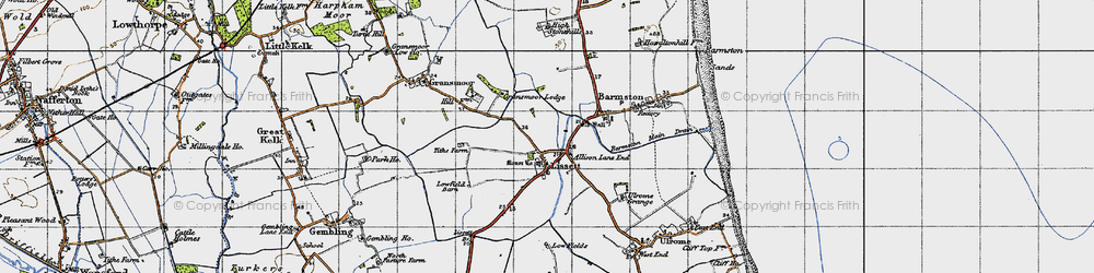 Old map of Allison Lane End in 1947