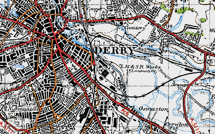 Old map of Litchurch in 1946