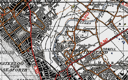 Old map of Litherland in 1947