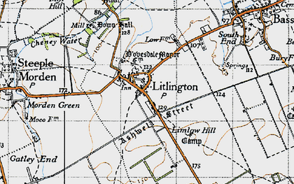 Old map of Limlow Hill in 1946