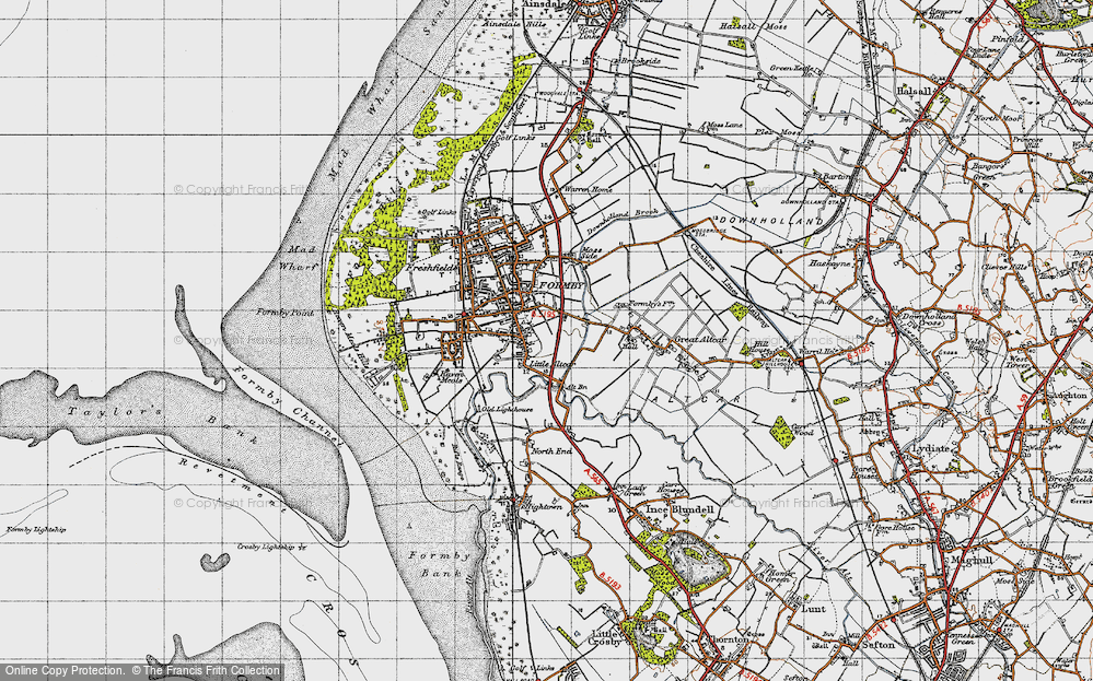 Old Map of Historic Map covering Alt Bridge in 1947