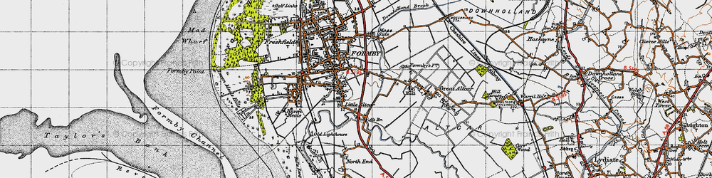 Old map of Alt Bridge in 1947