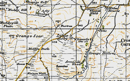 Old map of Whygill Head in 1947