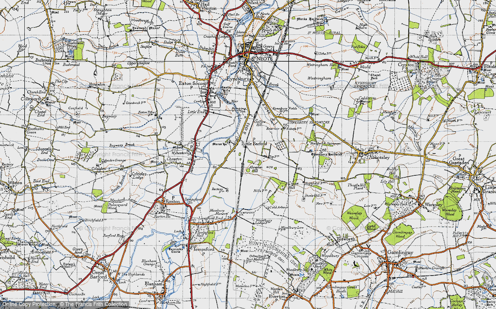Old Map of Historic Map covering Alington Hill in 1946
