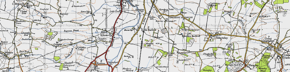 Old map of Alington Hill in 1946