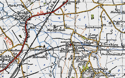 Old map of Ardmore in 1947