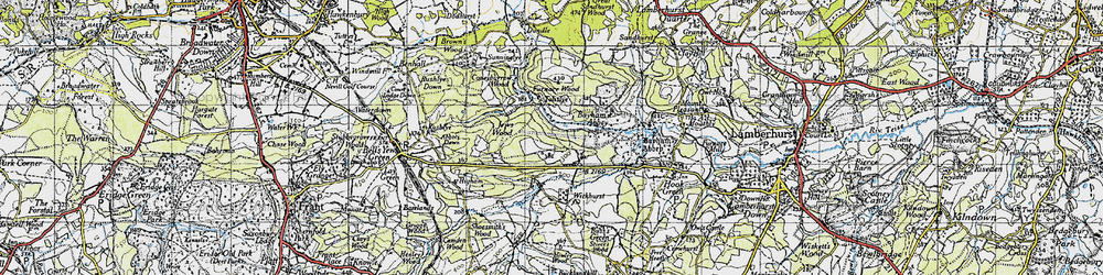 Old map of Bayham Abbey in 1946