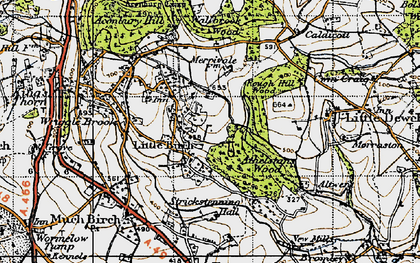 Old map of Athelstans Wood in 1947