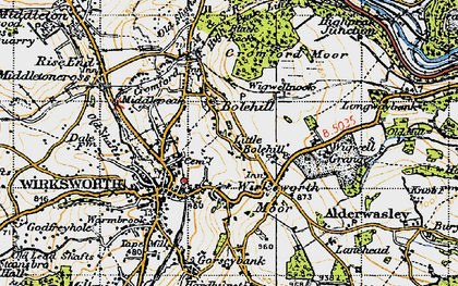 Old map of Little Bolehill in 1947