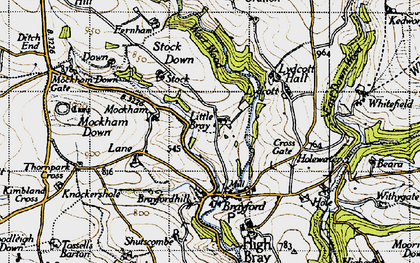 Old map of Wort Wood in 1946