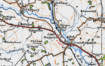 Old map of Worston Hall in 1946