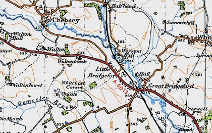 Old map of Whitehart Covert in 1946