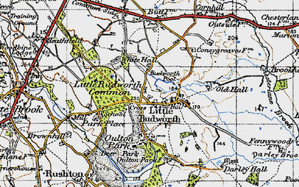 Old map of Little Budworth in 1947
