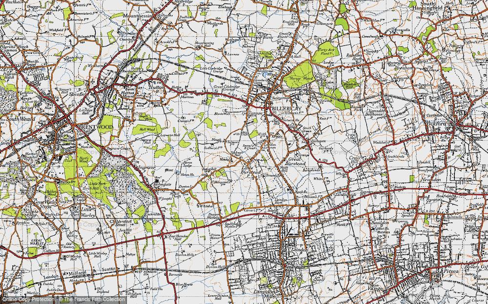 map of little burstead essex