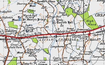 Old map of Langthorns in 1946
