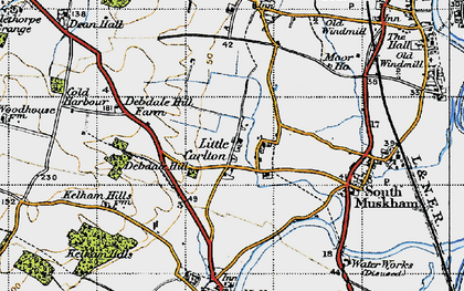 Old map of Little Carlton in 1947