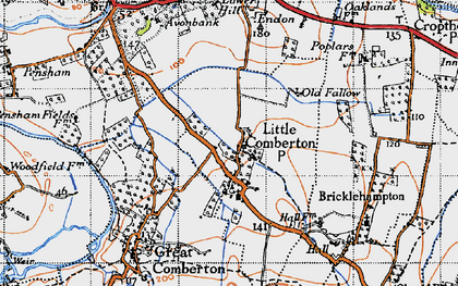 Old map of Little Comberton in 1946