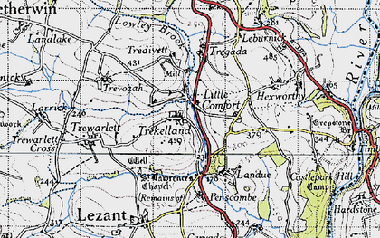 Old map of Little Comfort in 1946