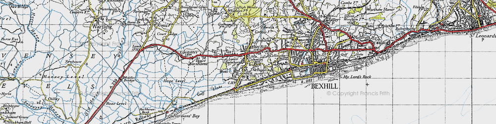 Old map of Little Common in 1940
