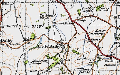 Old map of Wild's Lodge in 1946