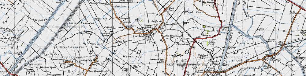 Old map of Westmoor Common in 1946