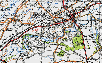 Old map of Pell Wall in 1947
