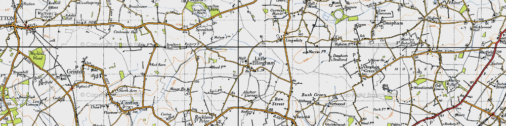 Old map of Lingwhite in 1946